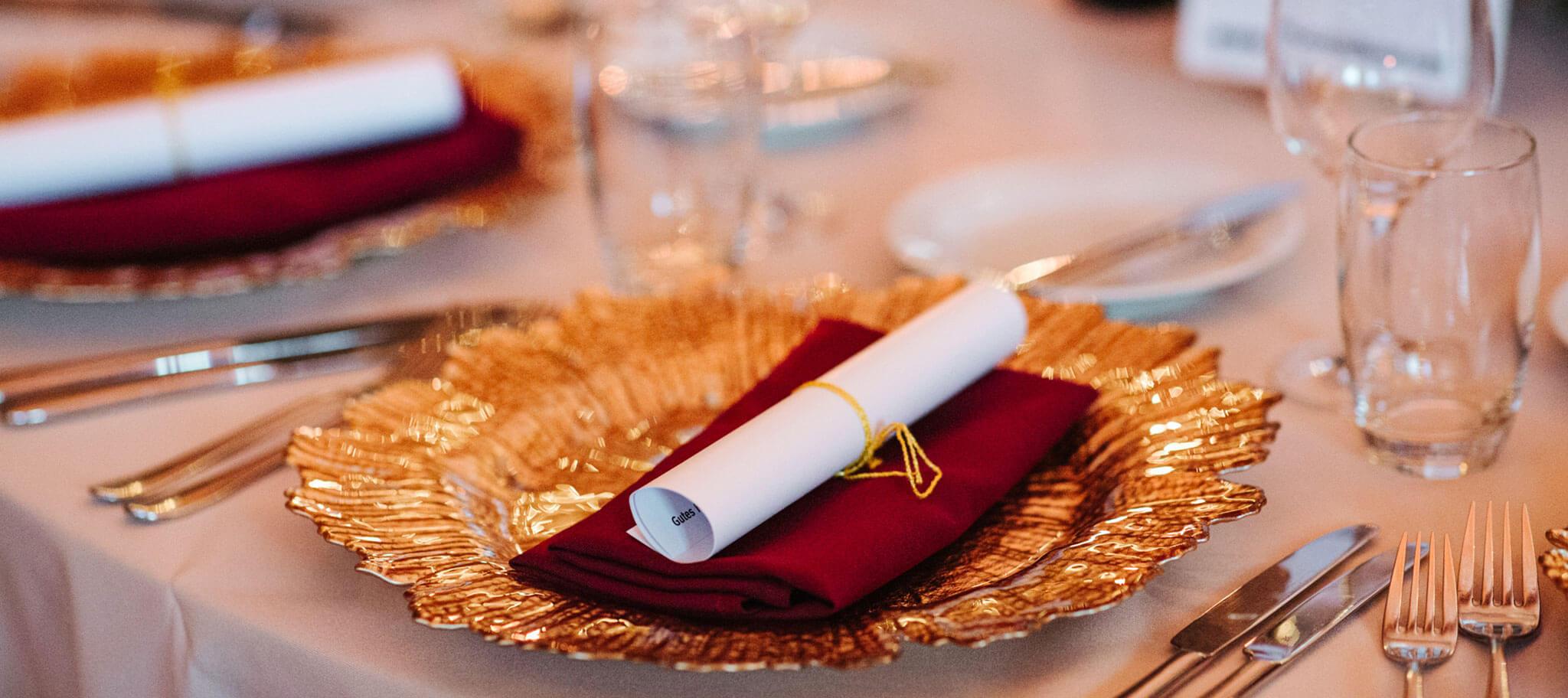 Tischdekoration bei Incentive in Riga