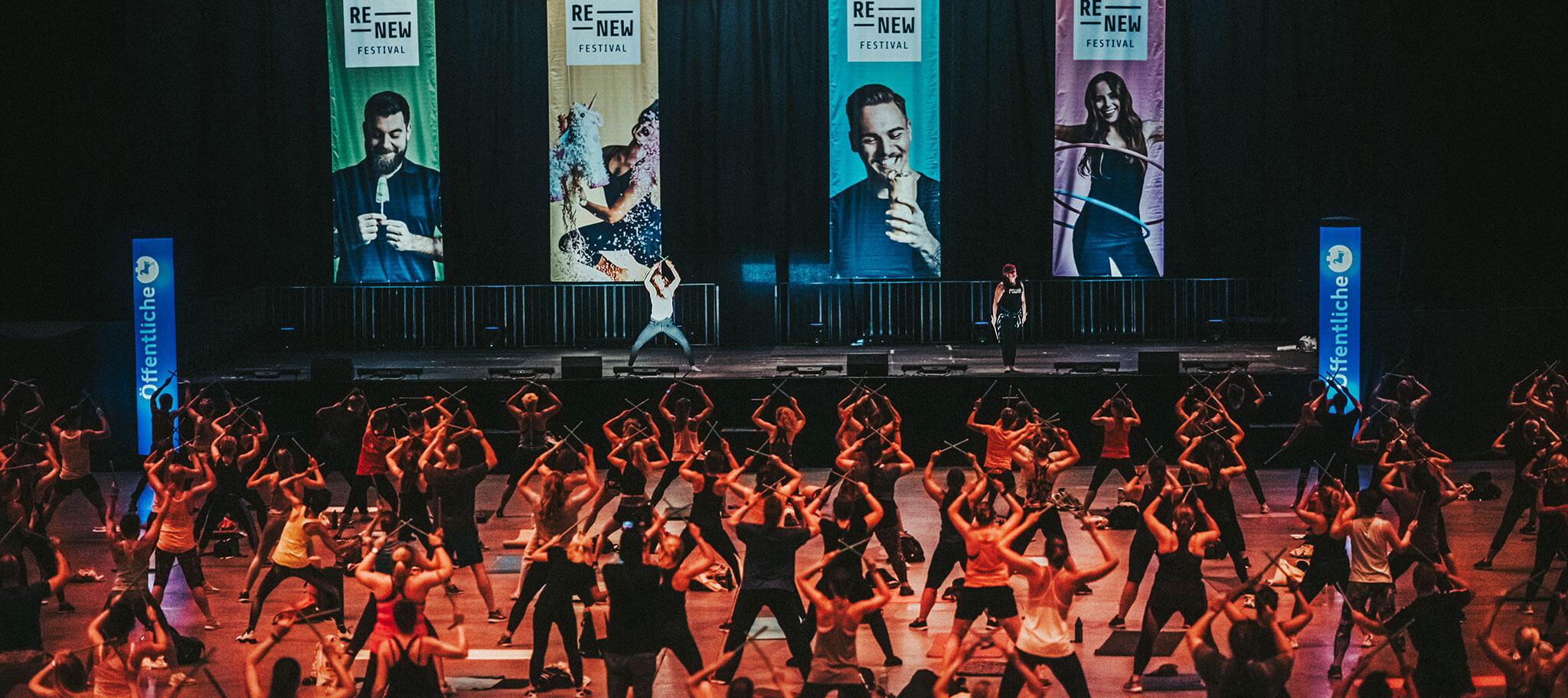 ReNew Indoor Veranstaltung beim Fitness Festival