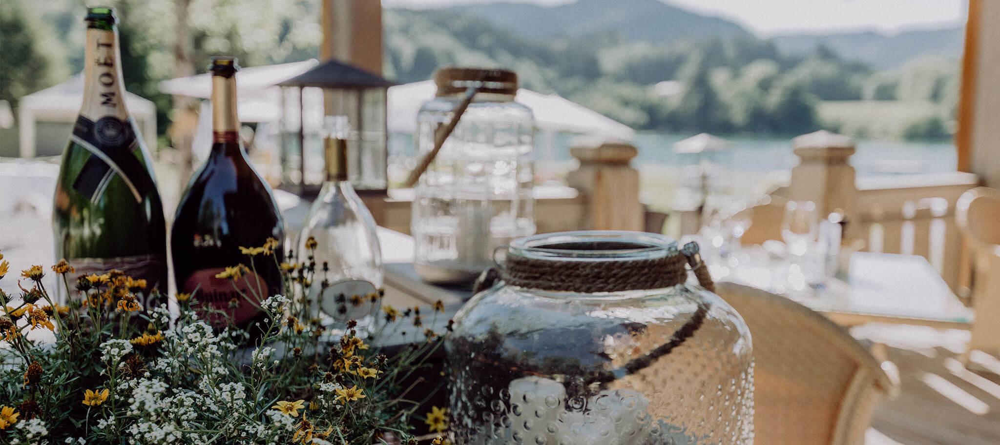 Dekoration bei Incentive am Tegernsee