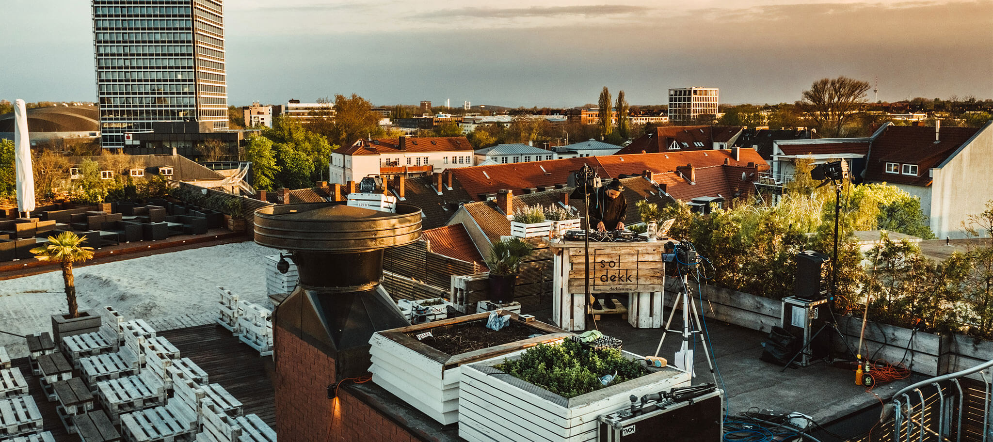 Location beim Sparkassen Rooftop Livestream