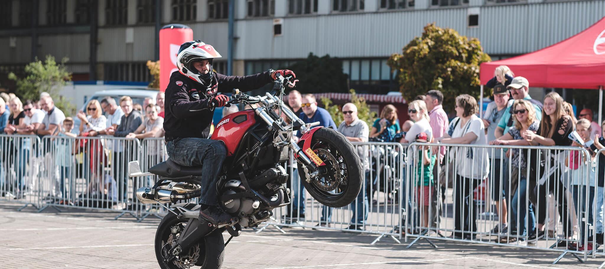 Motorradshow beim Jubiläum